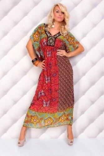 Dlouhé šaty s výšivkou (univerzální velikost) - Butik Radost 4df1641cf27