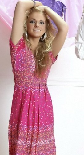 Růžové letní květované šaty