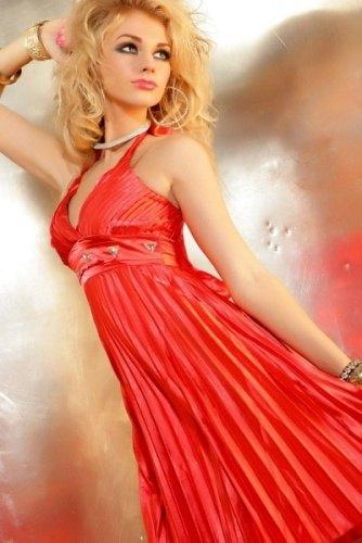8c7e7e4f25f Červené saténové šaty (vel. M) - Butik Radost