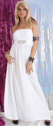 Dlouhé bílé šaty (vel. S M) - Butik Radost d5329a6a1e