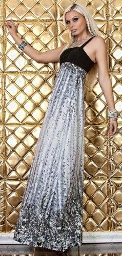 9421d2bedd3 Plesové šaty dlouhé + brož (vel. S) - Butik Radost