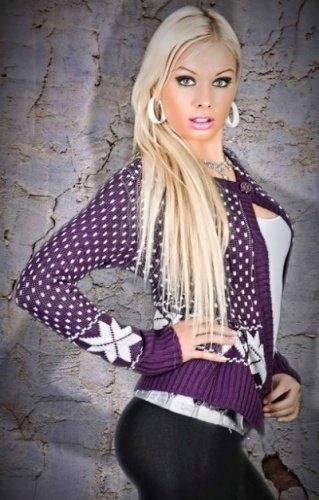 Módní dámský svetr