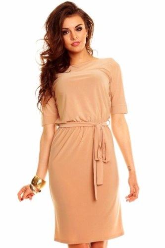 Atraktivní dámské šaty s páskem