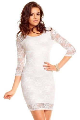 Bílé krajkové šaty (vel. S M) - Butik Radost 9393ee55c4