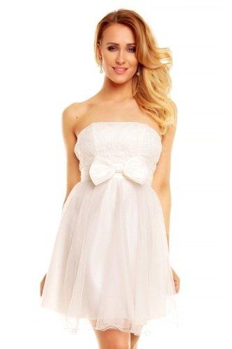 Bílé korzetové šaty vrstvené
