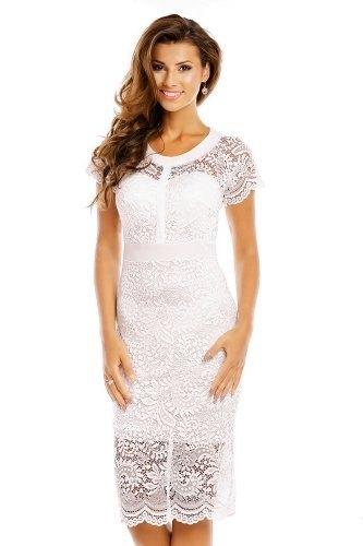 Bílé krajkové šaty - Butik Radost 632f03912a