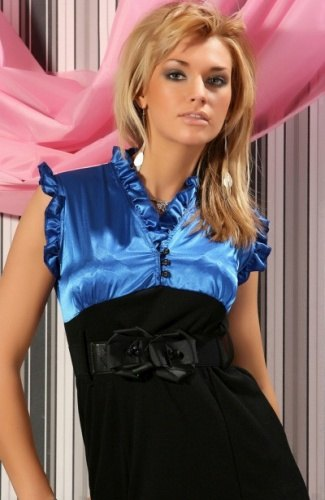 Elegantní šaty s páskem