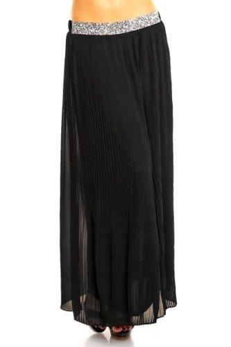 Dlouhá černá společenská sukně - Butik Radost 4841bff4af