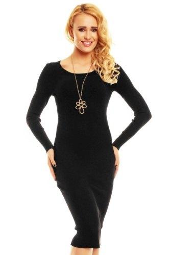 Černé úpletové šaty s rukávem c9d69eb8ed5