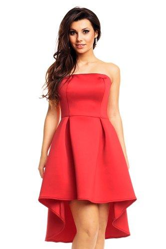 Korzetové šaty červené