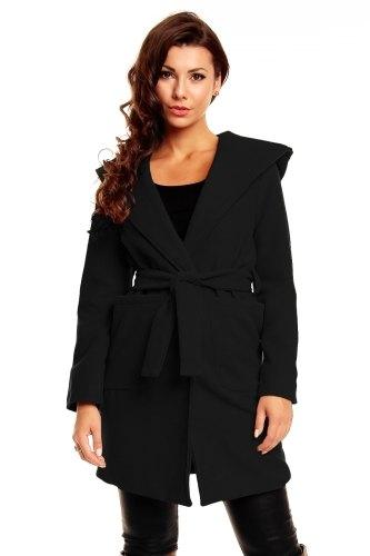 Dámský kabát s kapucou