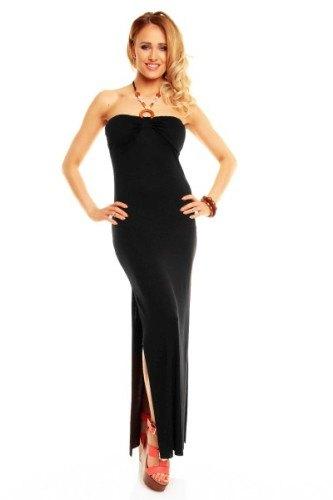 Dlouhé černé šaty s rozparkem