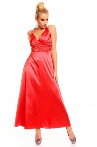 Červené dlouhé šaty na ples