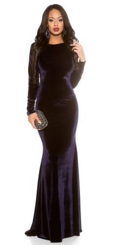 1b18d690e41 Dlouhé sametové společenské šaty