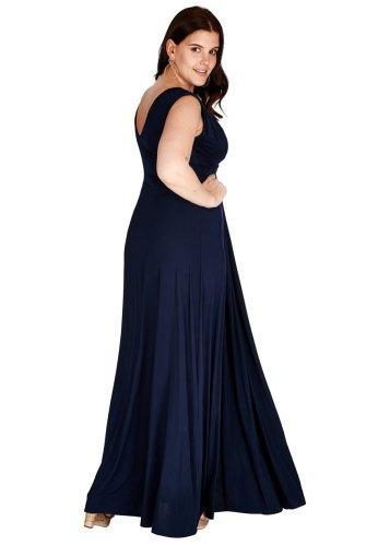 Dlouhé tmavomodré šaty cb022c770c
