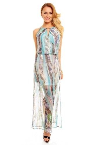 4933aafc89b Dlouhé šaty s hadím vzorem - Butik Radost