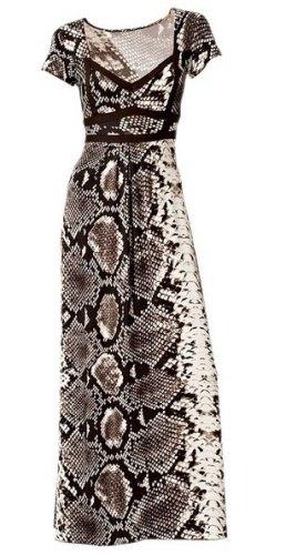 Dlouhé šaty hadí vzor (vel. L) - Butik Radost 07572b749f