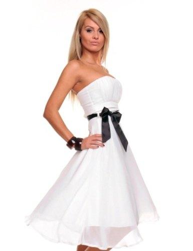 Bílé šaty se stuhou (vel. M) - Butik Radost a3e5e46739