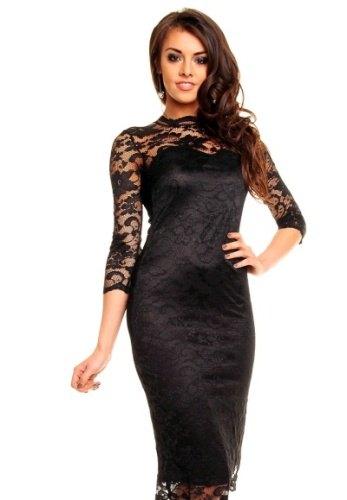 0388ca5bc076 Černé krajkové šaty
