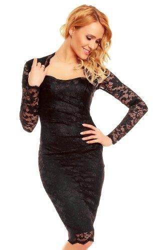 Černé plesové šaty s rukávy