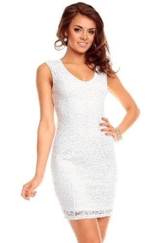 Bílé krajkové šaty - Butik Radost e3c197570e