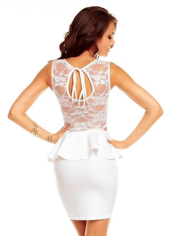Krajkové společenské šaty s peplum volánkem d54253fcebf