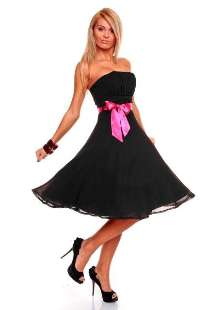 Luxusní černé společenské šaty - Butik Radost 90f266dcf4