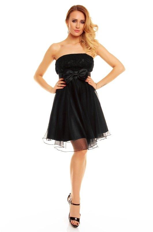 c3c511d6b6b Černé korzetové šaty vrstvené - Butik Radost