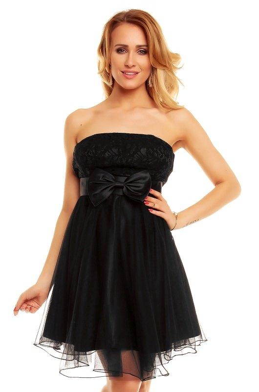 Černé korzetové šaty vrstvené