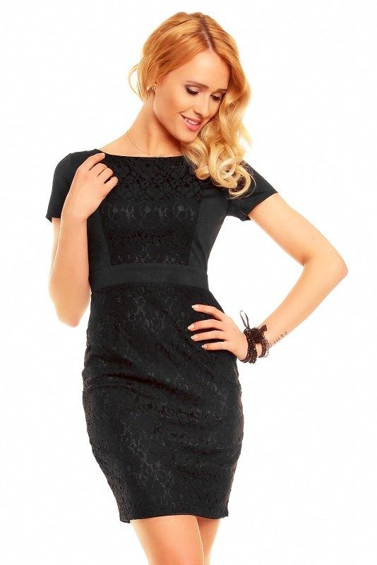 b5476cb79e5 Společenské šaty s krátkým rukávem - Butik Radost