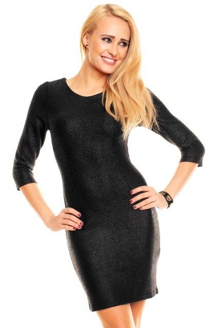 Černé společenské šaty dlouhý rukáv