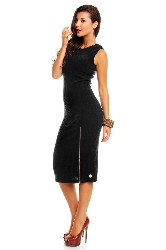 b0e1611eb6f Černé úpletové šaty bez rukávů - Butik Radost