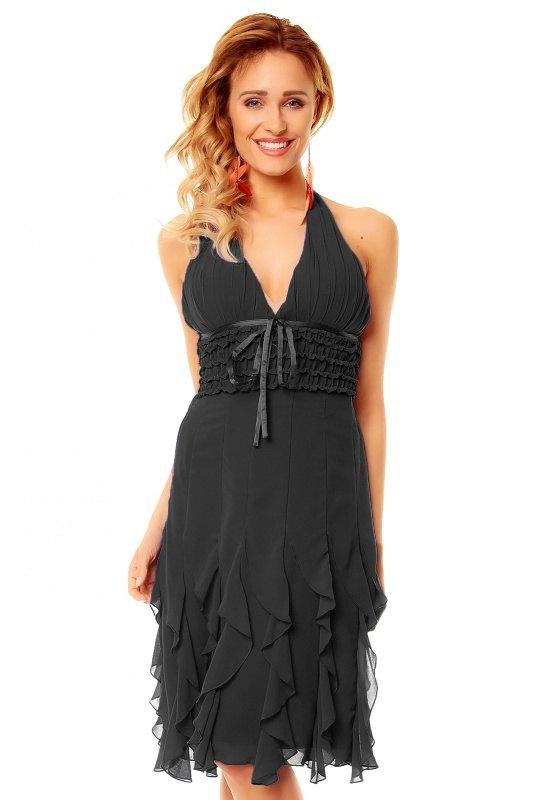 f4378e9d5593 Krátké černé šaty s volánky - Butik Radost