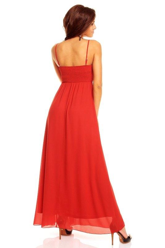 Luxusní červené dlouhé šaty Francie - Butik Radost 3a180f8c67
