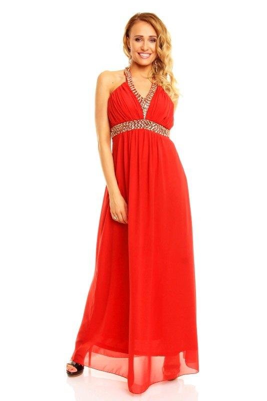 6368db9f2a6e Dlouhé červené společenské šaty - Butik Radost