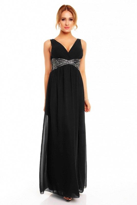 ae03b7ef8d4 Dlouhé plesové šaty v černé barvě - Butik Radost