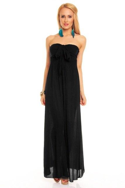 2805dbf09e Dlouhé černé šaty - Butik Radost
