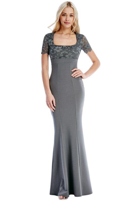 5753c6c98e0 Dlouhé elegantní společenské šaty s krajkou