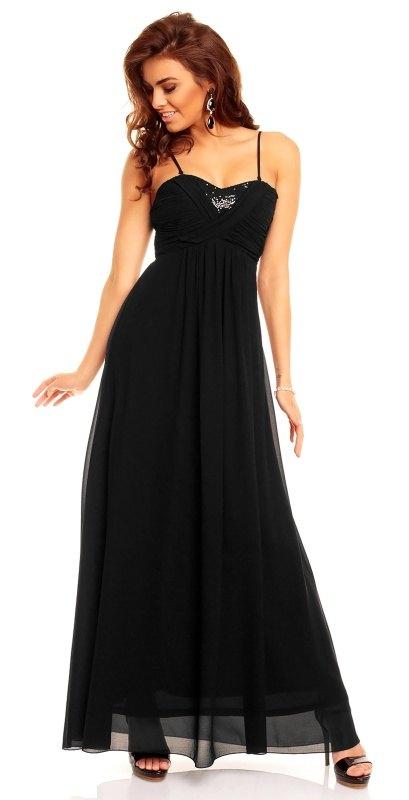 17c5dc013608 Dlouhé černé plesové šaty Paříž - Butik Radost