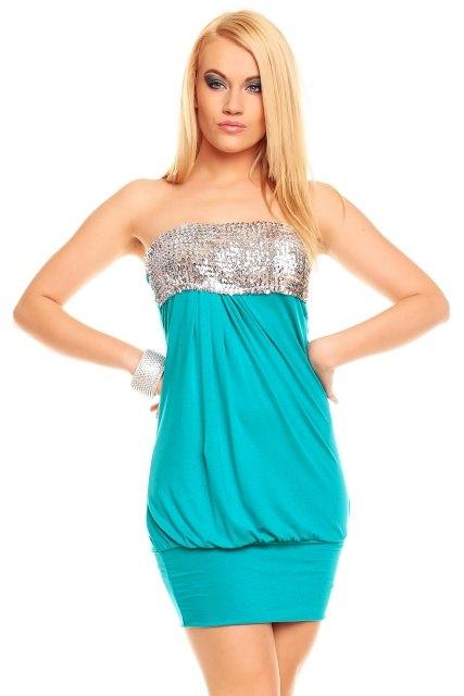 Sexy mini šaty s flitry - Butik Radost 747b13ea6e