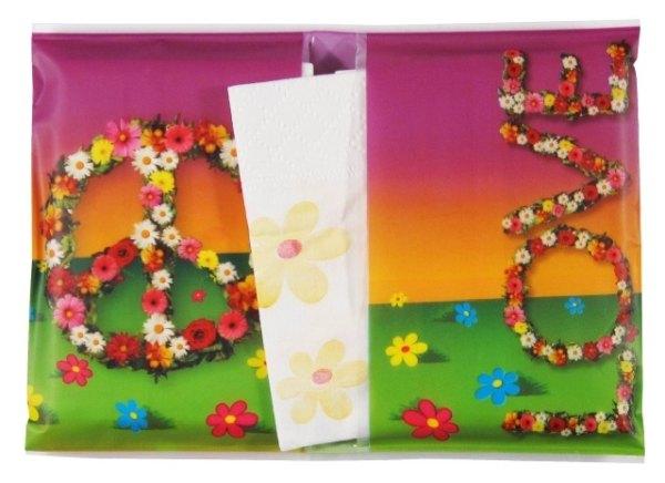 Hippie papírové kapesníky 2 balení
