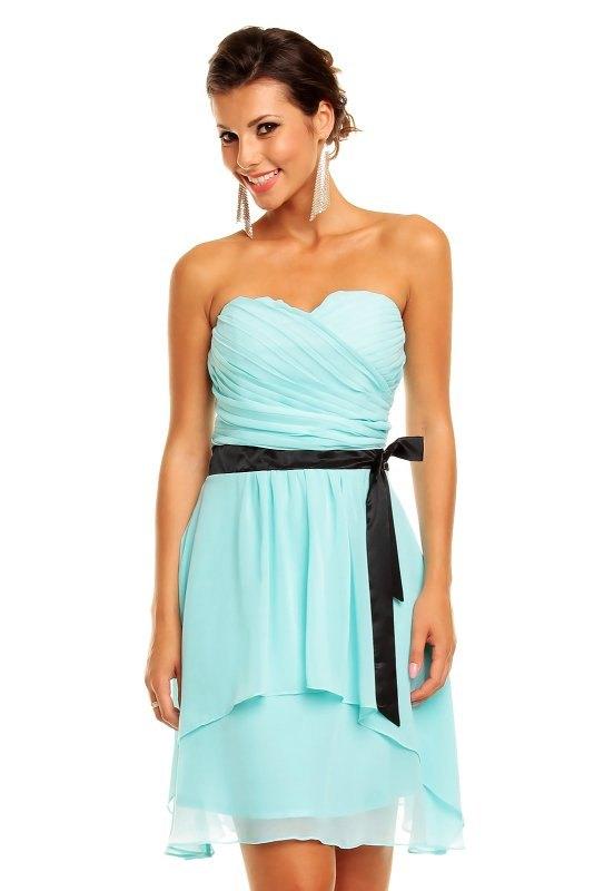 Korzetové společenské šaty modré - Butik Radost 62c17c2aeef