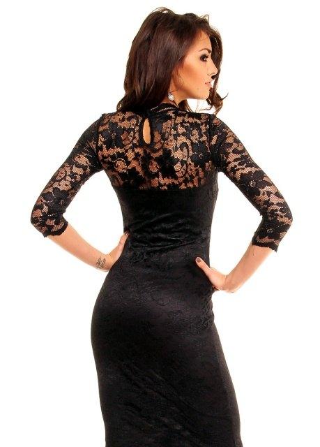 0b97601dd06 Černé krajkové šaty - Butik Radost