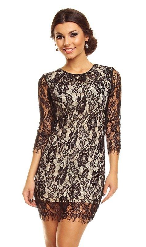 3f9ac213c4b Krátké krajkové šaty s rukávy - Butik Radost