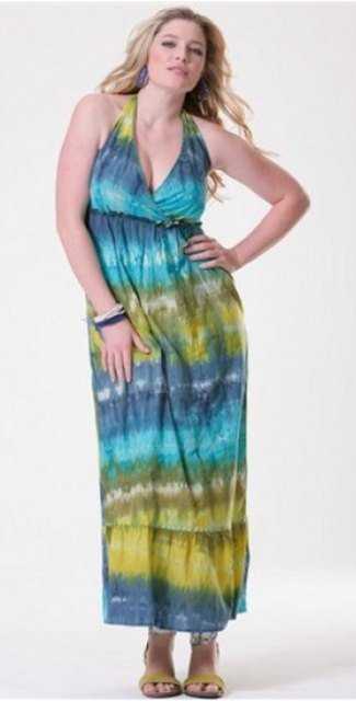 Nepřehlédnutelné dlouhé letní šaty XL