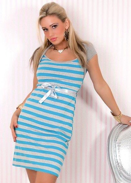 Letní šaty s proužky - Butik Radost 1fede3362b