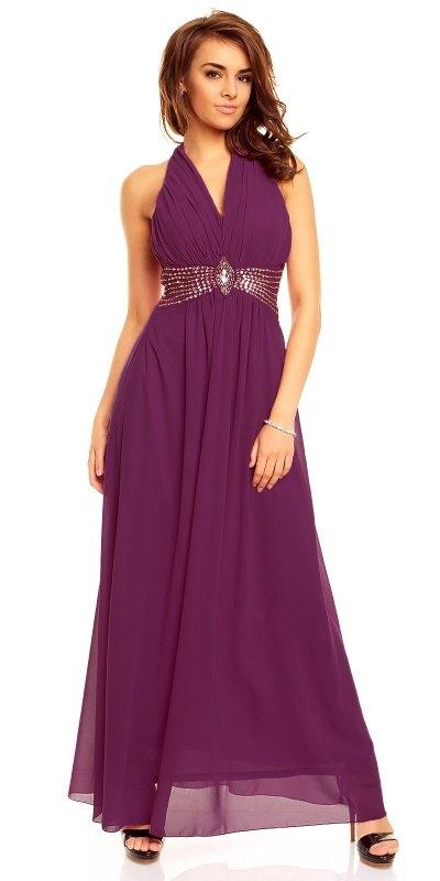 ca47f2f53449 Dlouhé fialové plesové šaty Paříž - Butik Radost