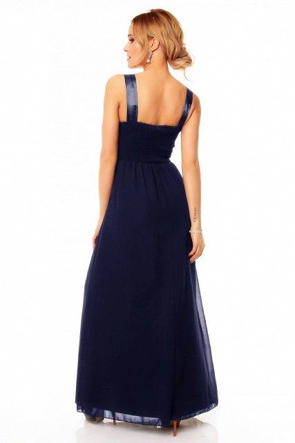 Dlouhé plesové šaty s výšivkou - Butik Radost 76b7dd9a972