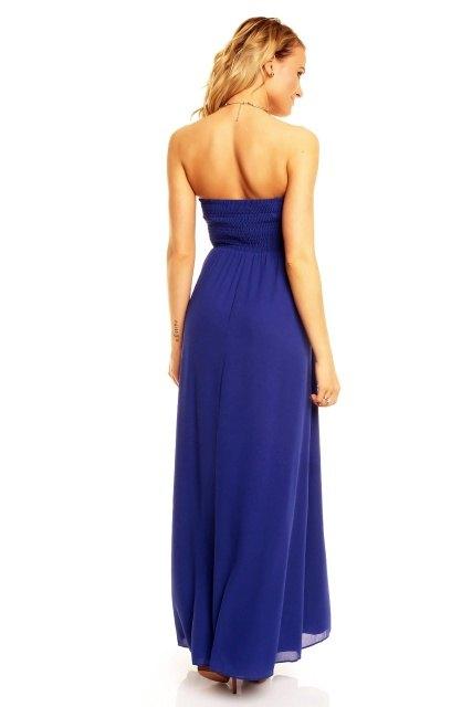 Luxusní modré plesové šaty Paříž - Butik Radost e396e23820