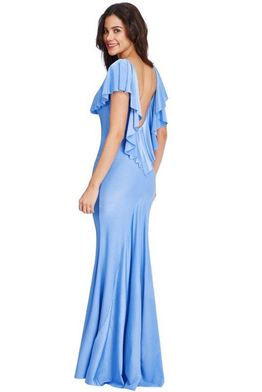 eeb7c91f2ef6 Nebesky modré dlouhé šaty do společnosti - Butik Radost